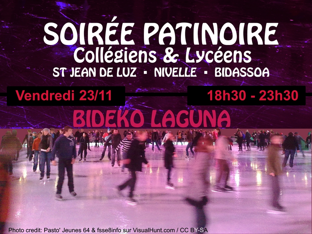 illustration Soire College Patinoire nov 2018 Bideko Laguna